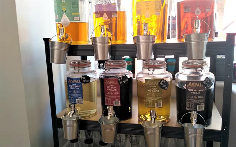 Refillable oils in Ernies
