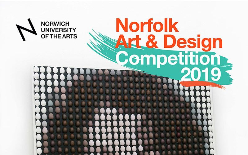 Norfolk Art and Design competition poster, at Norwich University of the Arts