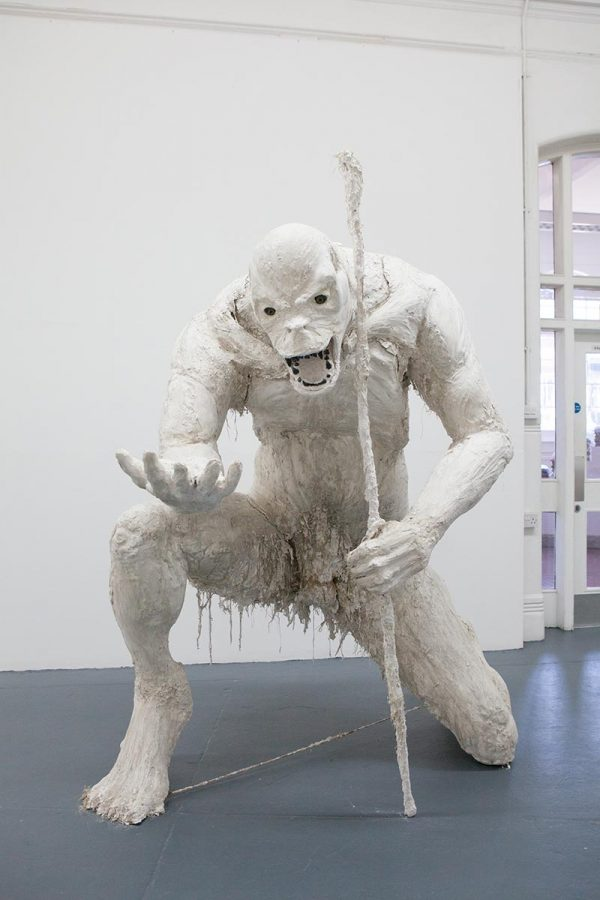 Tom Browning - BA Fine Art work at Norwich University of the Arts depicting a monster sculpture