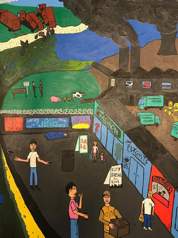 Liam Ashley Clark - MA Fine Art work showing a colourful painting of a playground by MA Fine Art student Liam Ashley Clark