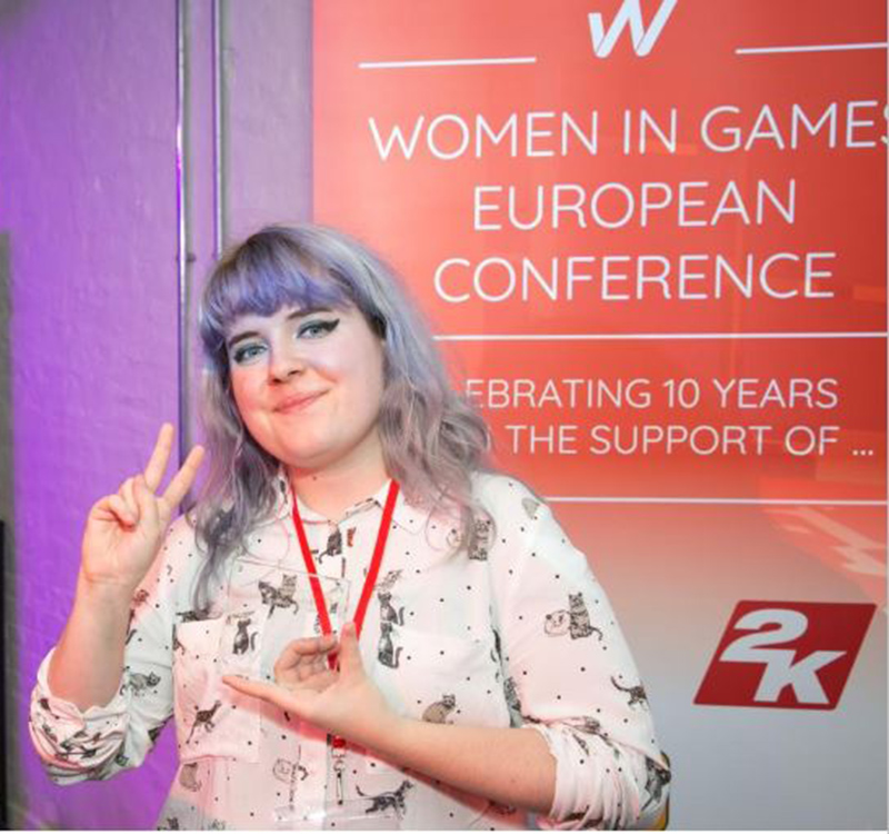 Becky Saunders at Women in Games European conference