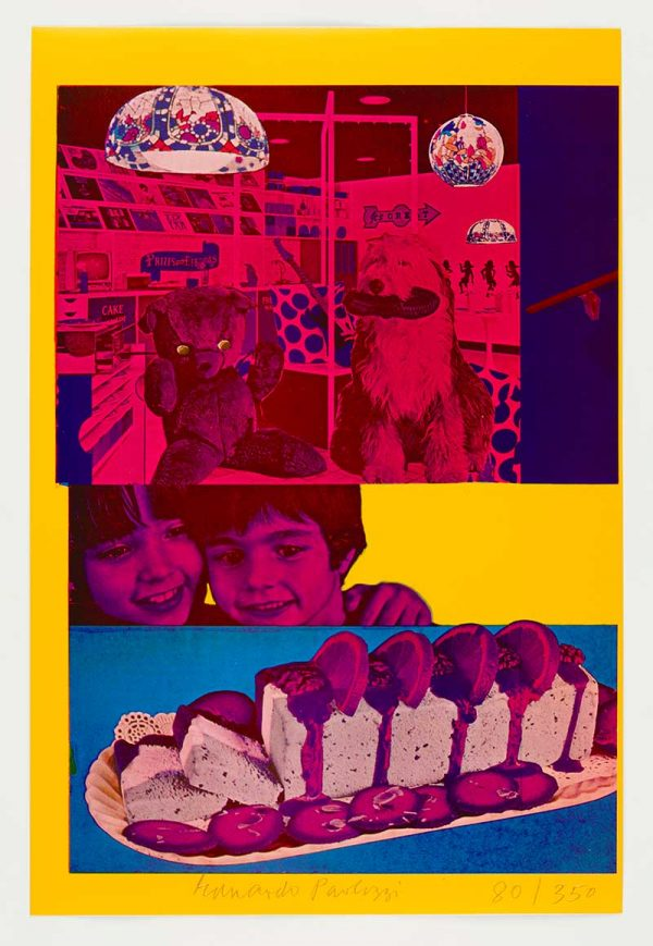 Why Children Commit Suicide... Read Next Month's Issue - Red and pink pop art collages by Eduardo Paolozzi