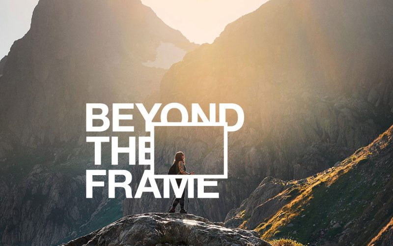 Beyond the Frame judges image by Fay Doyle, photographer. Image shows a woman hiking through mountains.