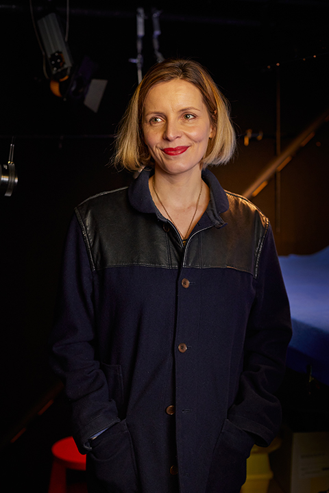 BA Animation Lecturer Carla MacKinnon stands in the Animation studio for stop-motion at Norwich University of the Arts