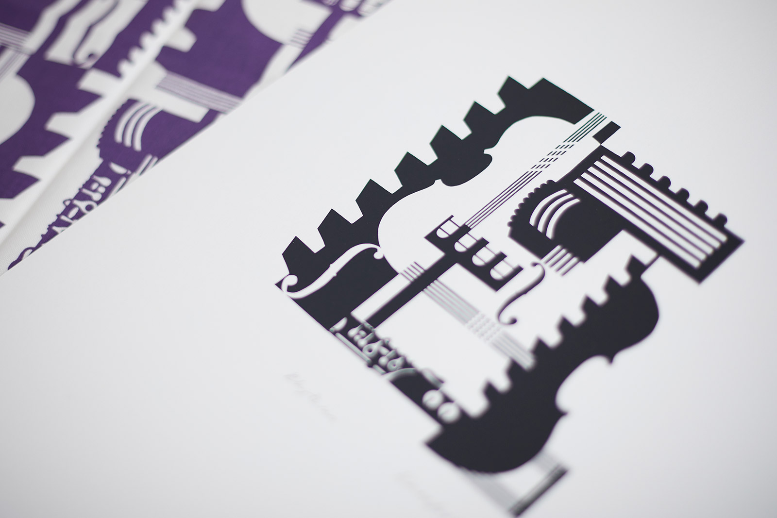 Designs for The Barbican by BA Fashion and BA Textile Design Course Leader Kate Farley