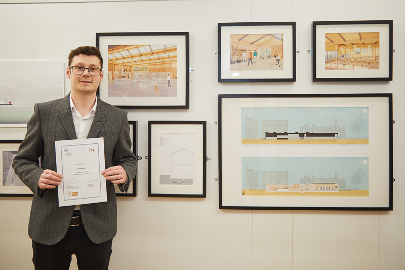 Joshua Baker wins the LSI Drawing Prize