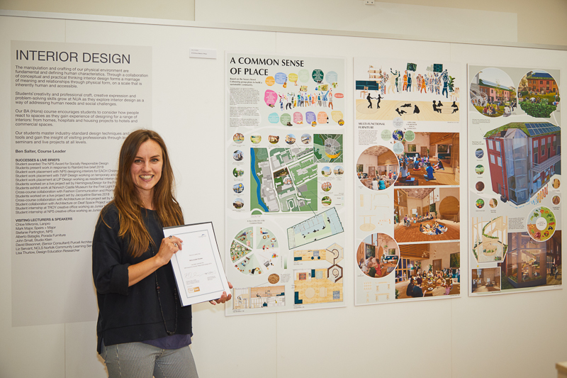 Amy Charter wins the NPS Award for Socially Responsible Design