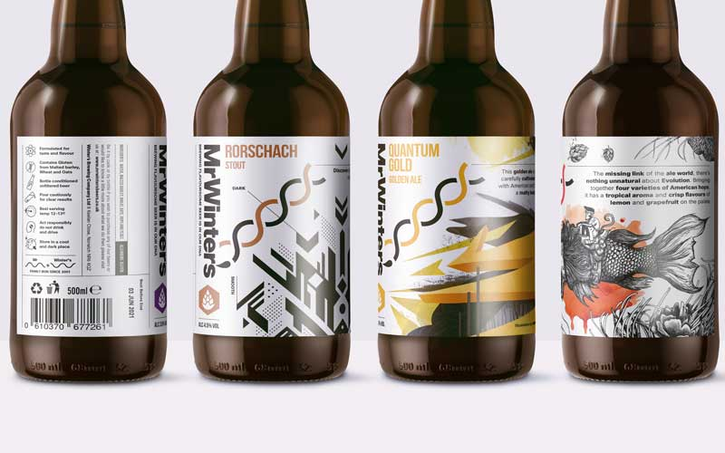 NUA Illustration graduates illustrate beer packaging on collaborative project with creative agency The Armoury