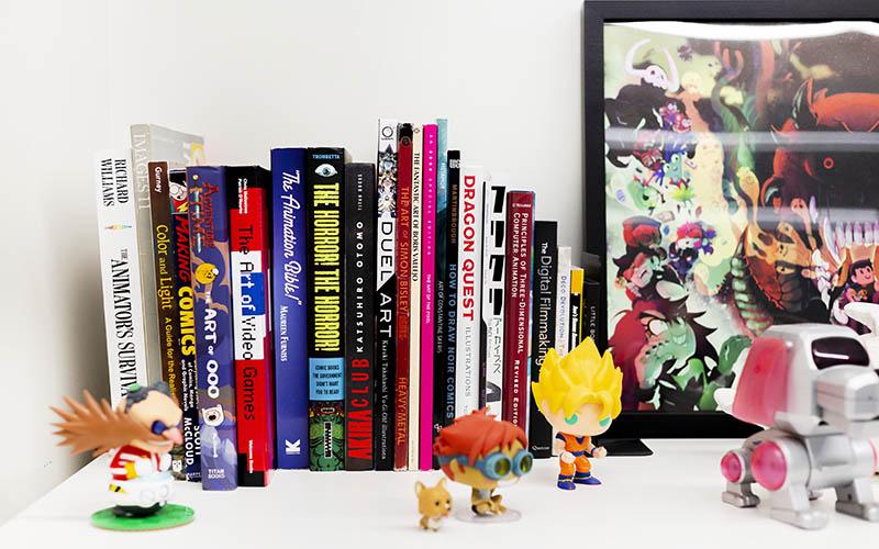 Shelf in Studio Goblin's office