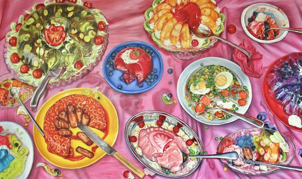 7. Emilia Symis, BA Fine Art - BA Fine Art work by Emilia Symis showing student work of food on a platter