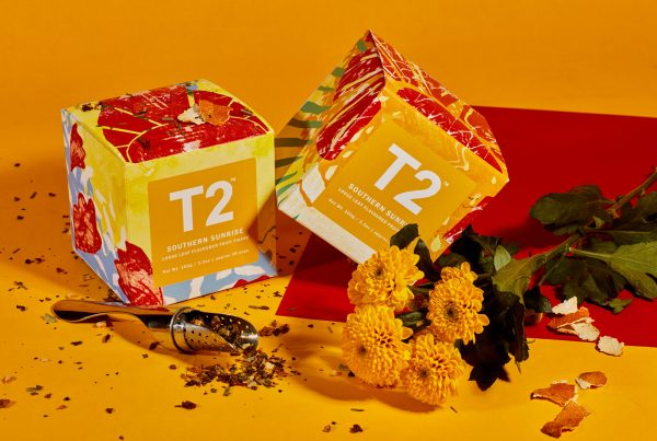 9. Mia Barrell, BA Illustration - BA Illustration student work by Mia Barrell showing 2 orange boxes on an orange backdrop