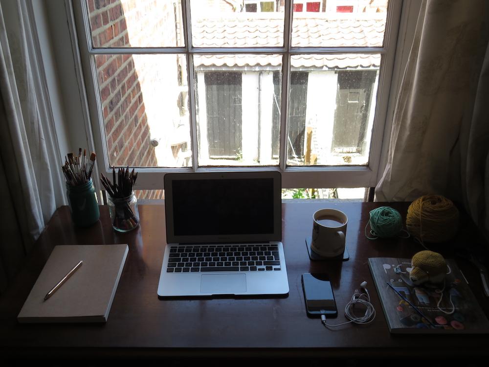 Charlie Denning's lockdown workspace