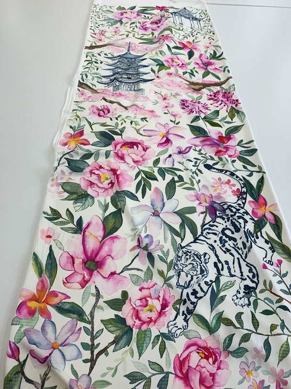 11. Daisy Gyapong, MA Textile Design - MA Textile Design work by Daisy Gyapong showing a floral repeat pattern
