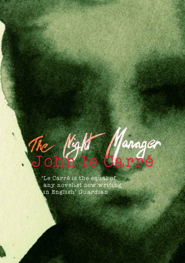 Ruta Kazlauskaite - Book cover of John le Carre's The Night Manager showing a face painted in hazy green watercolours