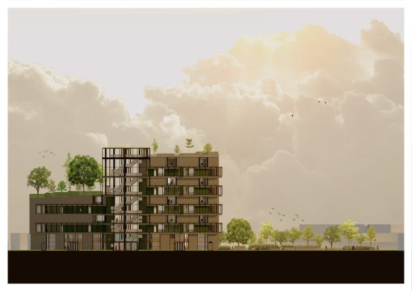 Growing East - A cross section of a new development in Hull, by BA Architecture student Kate Carlsen