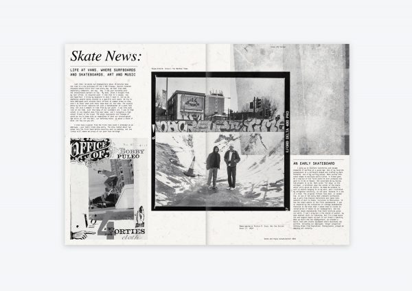 Skate News - A modern newspaper design for 'Skate News' by BA Design for Publishing student Ollie Turner. Black and white images alongside creative typography.