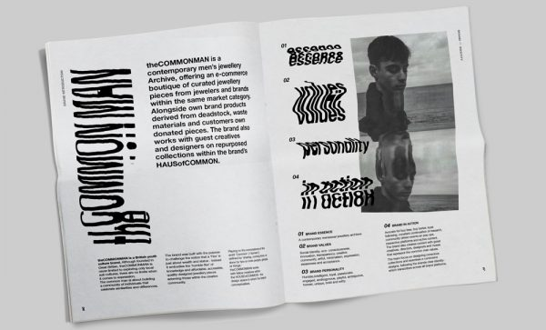 Amy Paske - Fashion editorial design by BA Fashion Communication and Promotion student Amy Paske. Black and white typography and text, manipulated with black and white photography