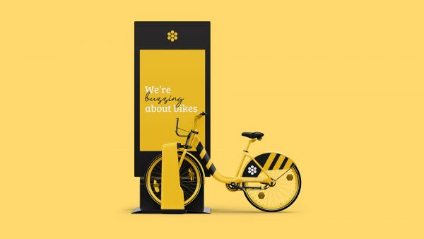 Tom Horbury - A bike storage locker and promotion poster design for Bright Hire bicyles