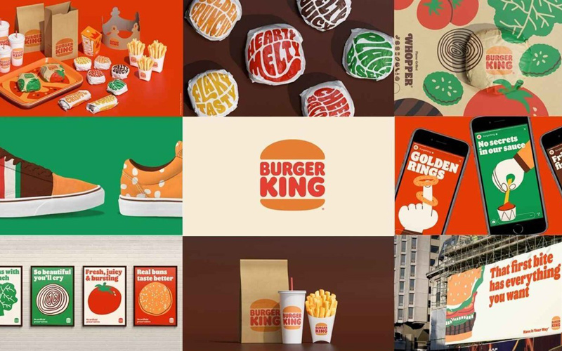 Burger King branding by agency Jones Knowles Ritchie