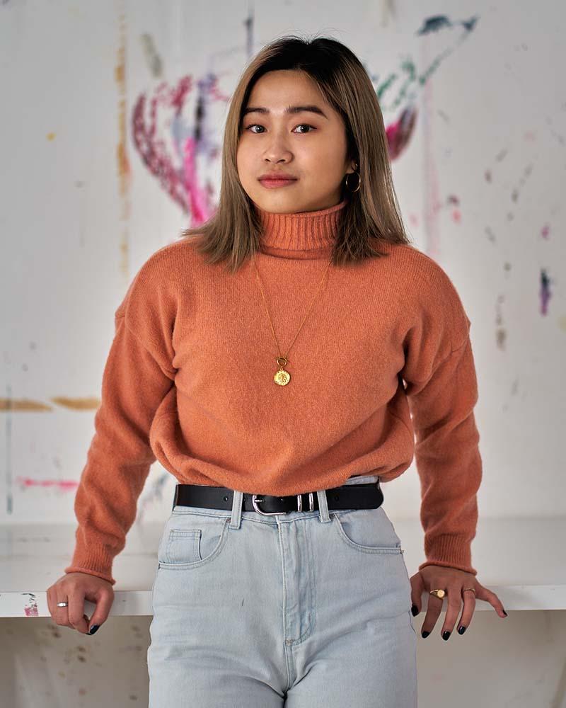 Portrait of fine art student Yuyu Tse