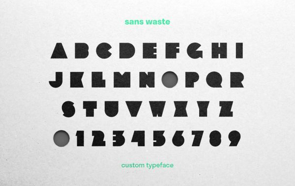 Ben Chamberlain - Blocky typeface design showing each letter of the alphabet and numbers 0-9