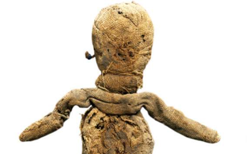 A fabric doll from the Ancient Roman times