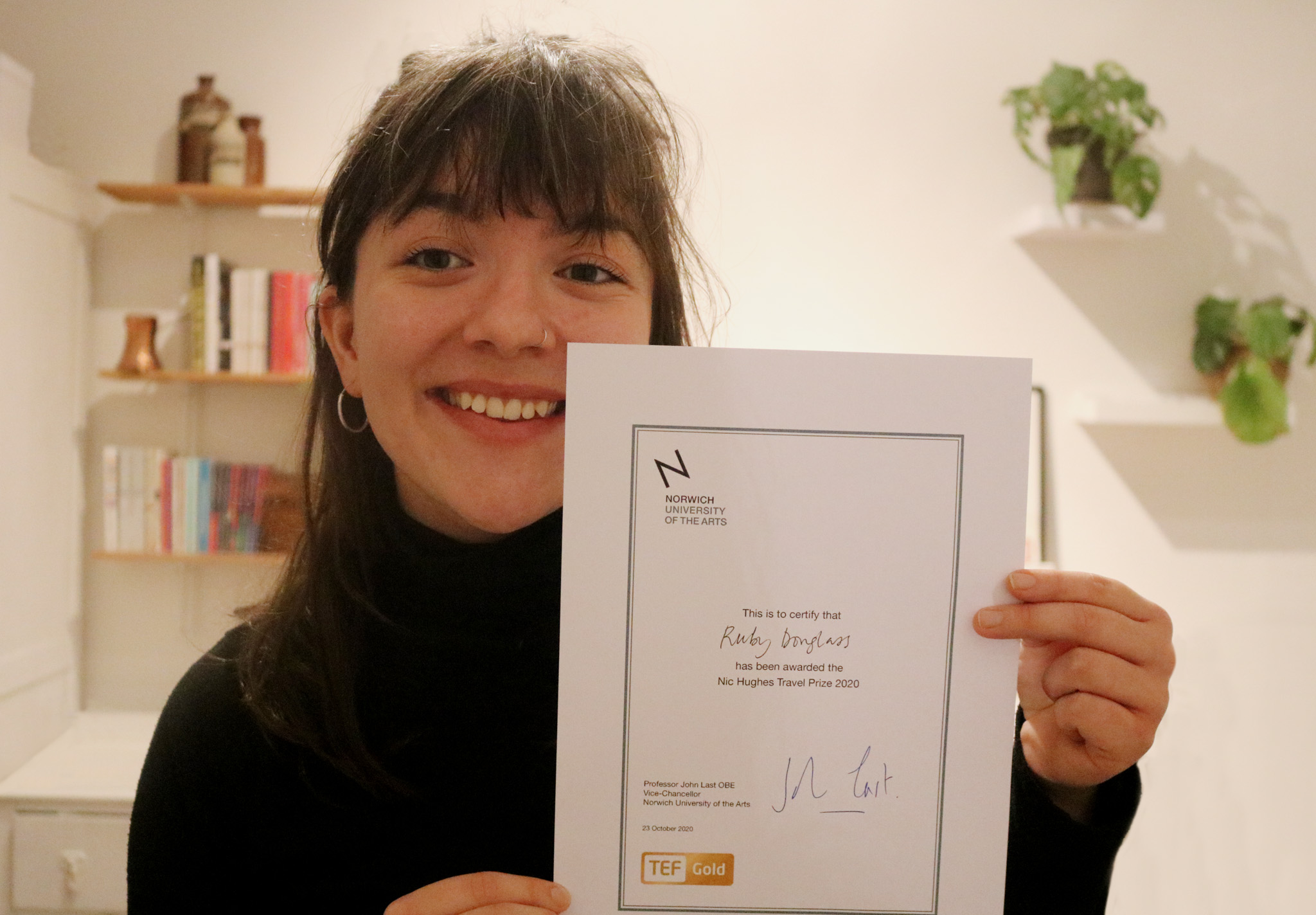 Ruby Douglass wins the annual Nic Hughes Travel Prize 2020