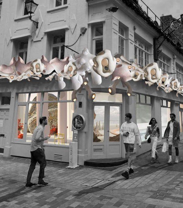 Alice Garner - Exterior and interior abstract art installation concept