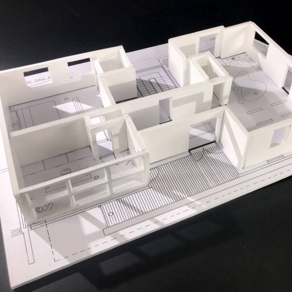 Chloe Read - 3D scale model of a building with several rooms