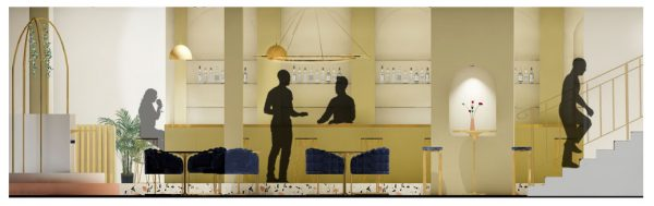 Madeleine Greeves - Interior design plan and styling for a bar