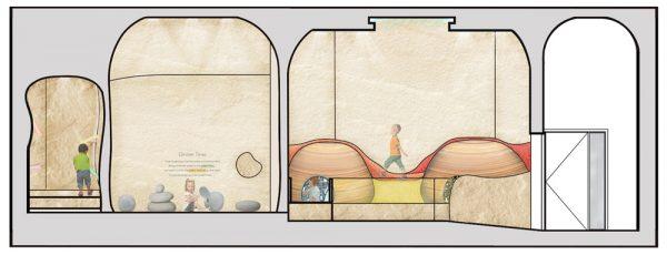 Natalia Radomska - Interior design artwork for a children's play area