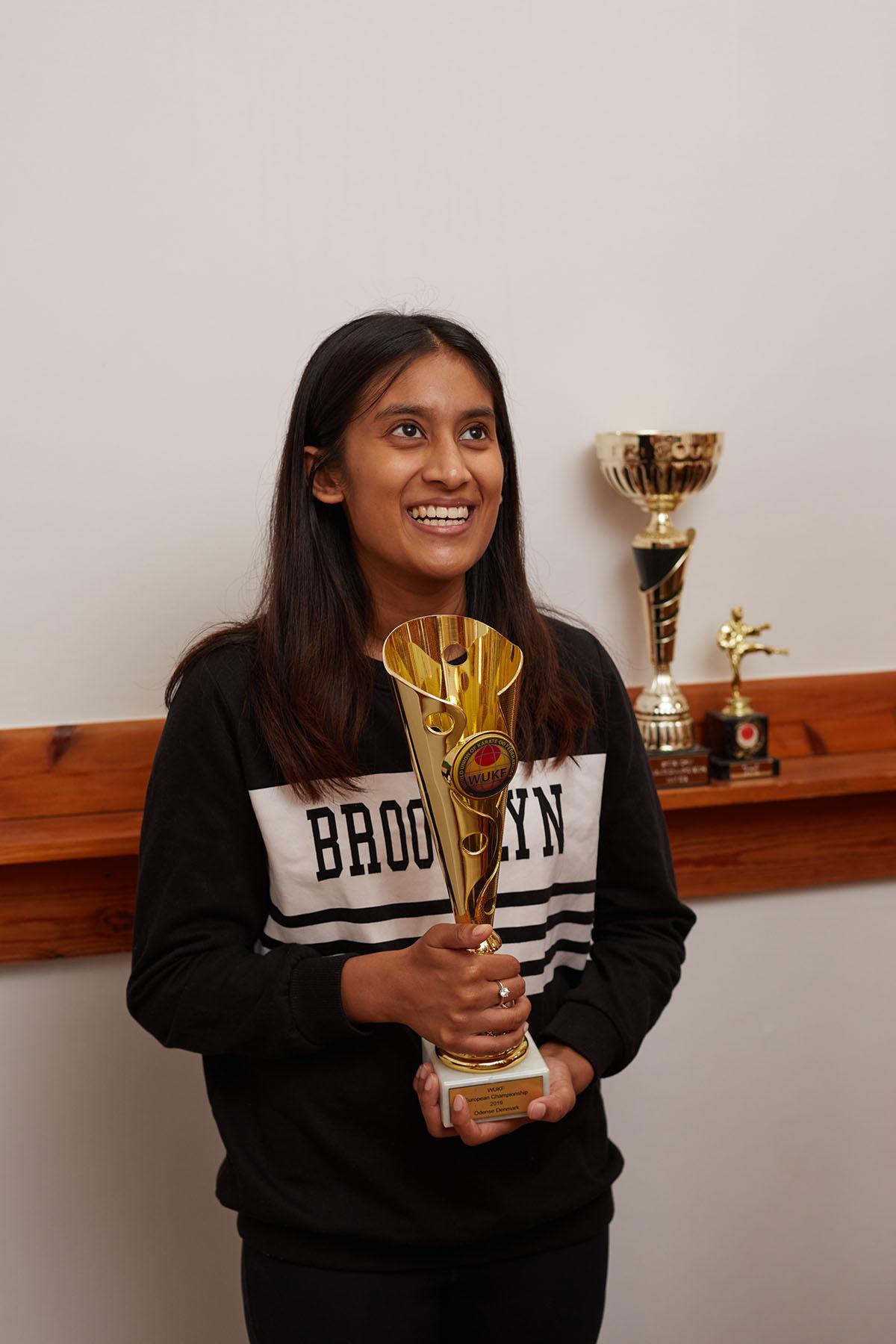 Mahisha and trophy